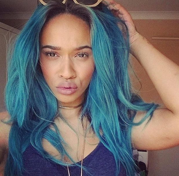 X Factor's Tamera Foster dyes hair blue, 15 April 2015