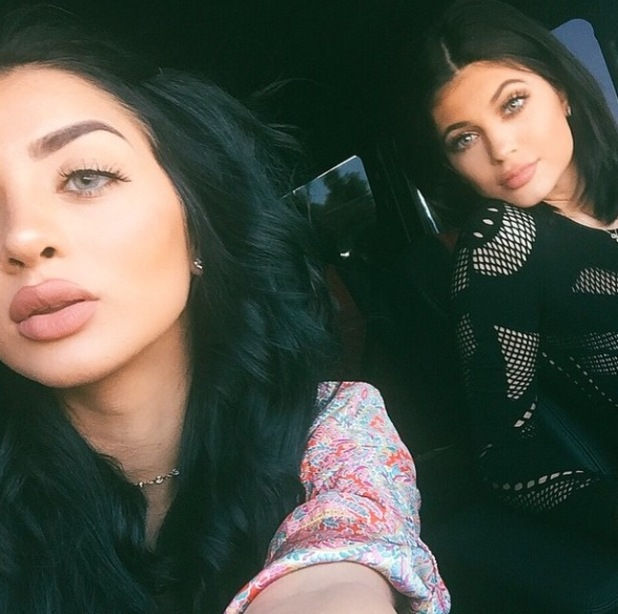 Kylie Jenner and friend wear blue contacts