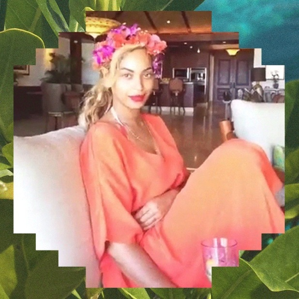 Beyonce shares pictures from her anniversary break in Hawaii on beyonce.com