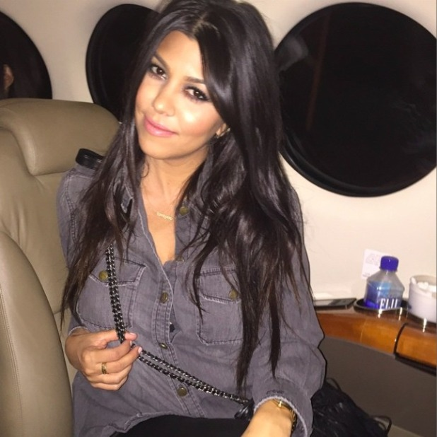 Kourtney Kardashian heads to Las Vegas for birthday celebrations, 18 April 2015