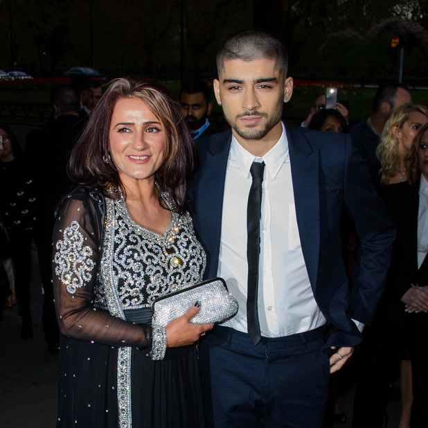 Zayn Malik and his mum Trisha attend the 5th Asian Awards held at the Grosvenor House Hotel, 17 April 2015