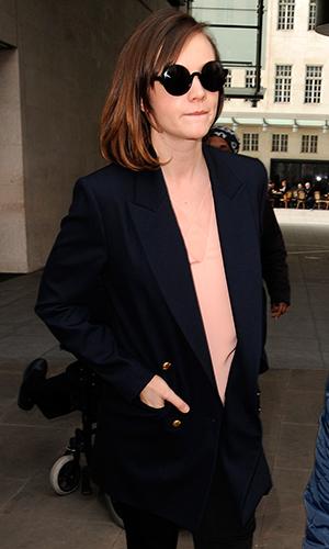 Carey Mulligan sighting at The BBC, 16 April 2015