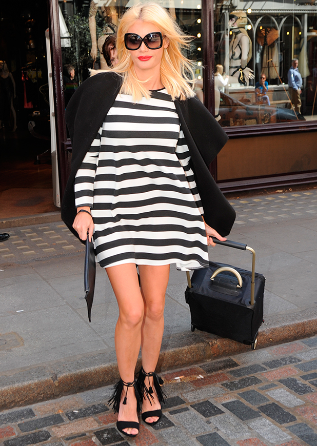 Chloe Sims seen out in London, 17 April 2015