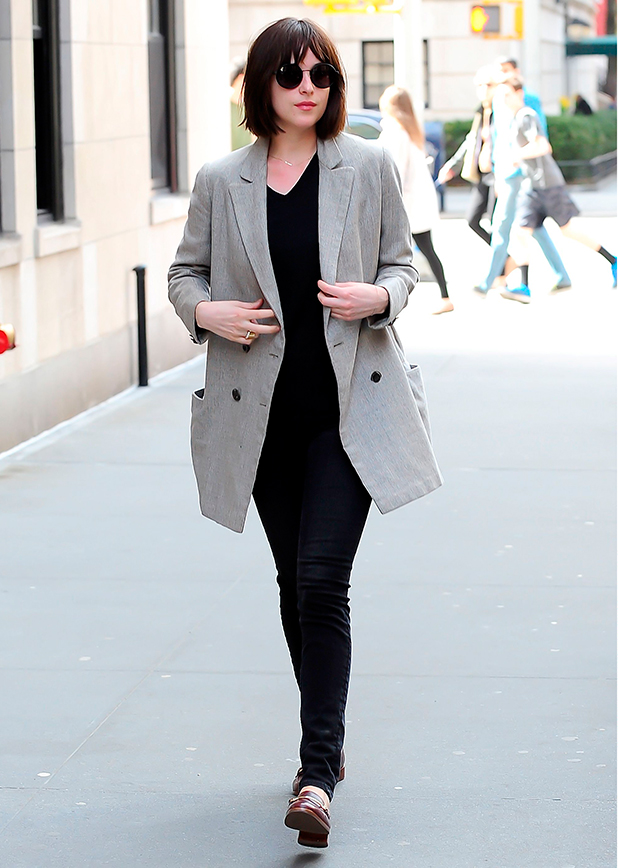 Dakota Johnson out and about, New York, America - 15 Apr 2015