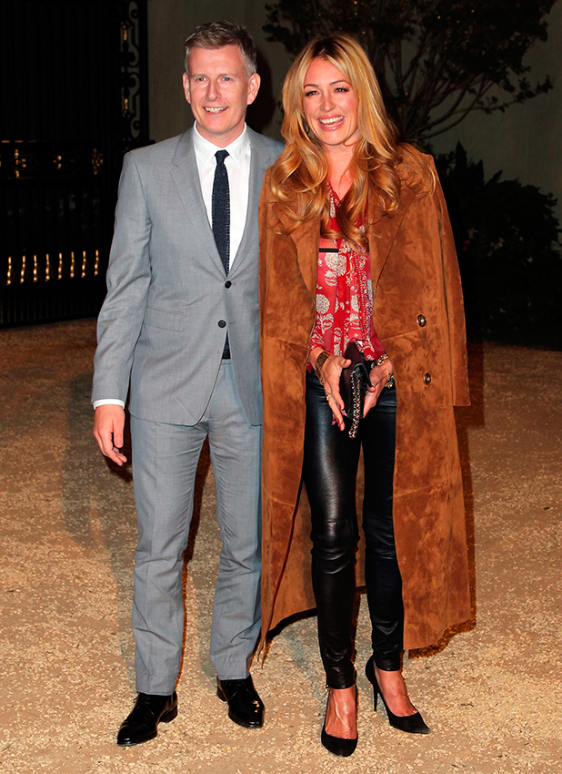 Patrick Kielty (L) and tv personality Cat Deeley attends the Burberry 'London in Los Angeles' event at Griffith Observatory on April 16, 2015 in Los Angeles, California.