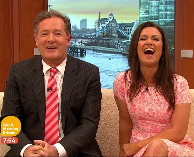 Susanna Reid and Piers Morgan on Good Morning Britain, broadcast on ITV1 HD, April 2015
