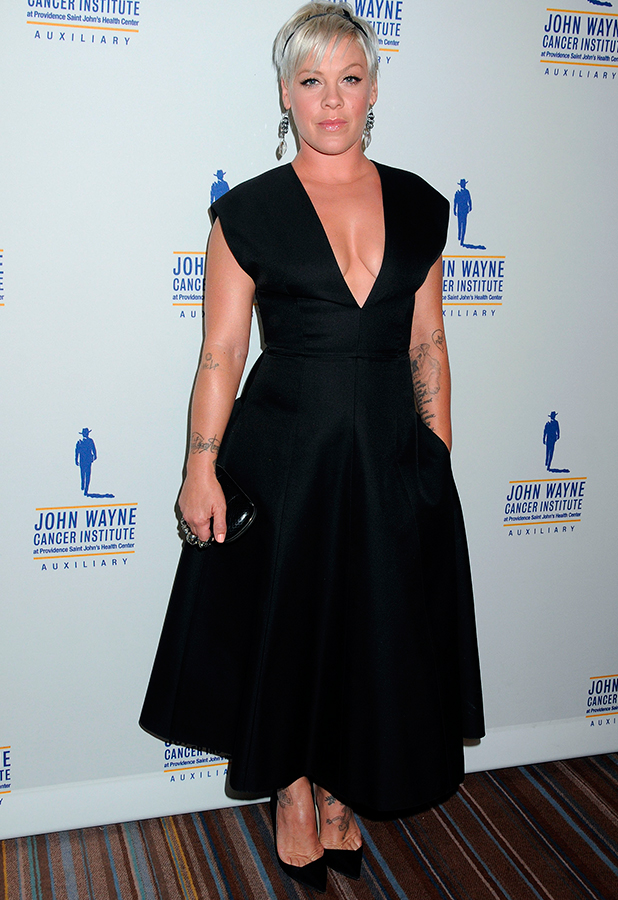 30th Annual Odyssey Ball at the Beverly Wilshire Hotel, Los Angeles, America - 11 Apr 2015 Pink