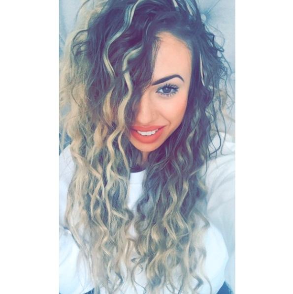 Holly Hagan's bouncy curls