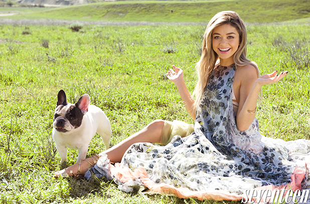 Sarah Hyland covers the May 2015 issue of Seventeen, on newsstands 21 April 2015