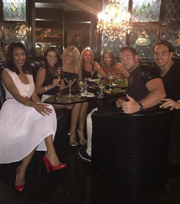 Katie Price, Kieran Hayler, James Lock, Danielle Armstrong enjoy dinner at Sheesh Chigwell, 15 April 2015