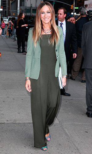 Sarah Jessica Parker at the 'Late Show with David Letterman' in New York City, 13 April 2015