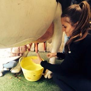 Brooke Vincent's at the farm - April 2015.