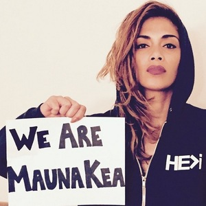 Nicole Scherzinger campaigns for Manau Kea mountain in Hawaii, Instagram 8 April
