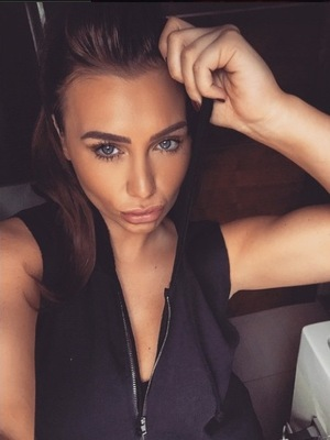 Lauren Goodger shares sultry photo with fans as she tells them about her weight loss journey - 23 April 2015.
