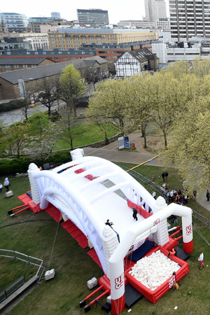Jamie Laing at the Up&Go Bounce Off London Southbank - 23 April 2015.