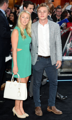 Ben Hardy and his girlfriend Katriona Perrett at The Avengers: Age of Ultron - UK film premiere held at the Westfield White City - 21 April 2015.