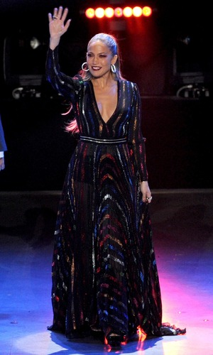 Judge Jennifer Lopez backstage at FOX's 'American Idol XIV' Top 5 Revealed on April 22, 2015 in Hollywood, California.