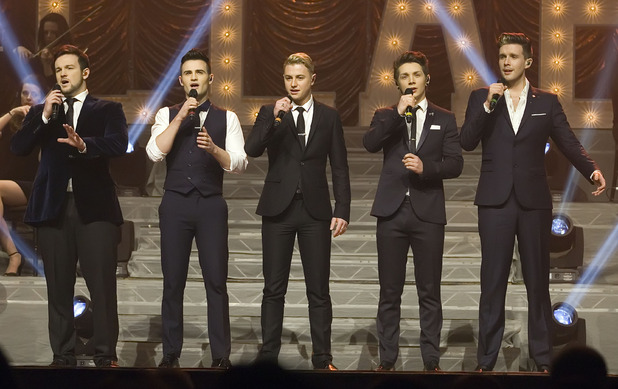 Britain's Got Talent winners Collabro headline at the Scottish Exhibition and Conference Centre (SECC) - 20 February 2015.