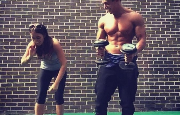 Imogen Townley and Deano Baily at the gym together, Twitter 18 April