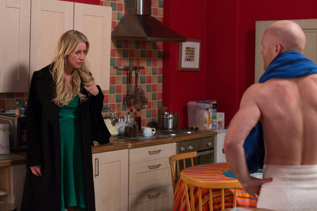 EastEnders Karin turns up at Max's, Mon 27 Apr