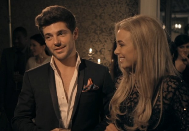 Made In Chelsea: Alex Mytton talks with ex Binky Felstead and his girlfriend Nicola Hughes (20 April 2015).
