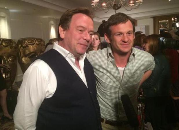 EastEnders actor Adam Woodyatt and executive producer Dominic Treadwell-Collins at the BAFTA nominations party - 22 April 2015.