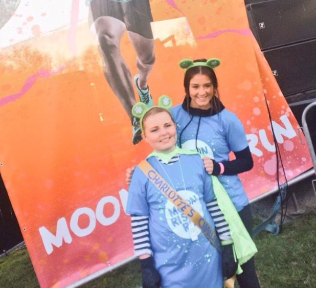 Brooke Vincent's 5k run for The Royal Manchester Children's Hospital. April 2015.