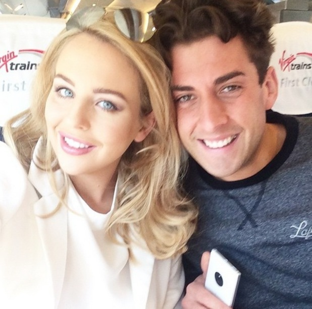 Lydia Bright and James Arg Argent on way to Manchester, Instagram 20 April