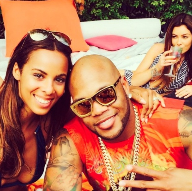 Rochelle Humes and flo rida in Miami