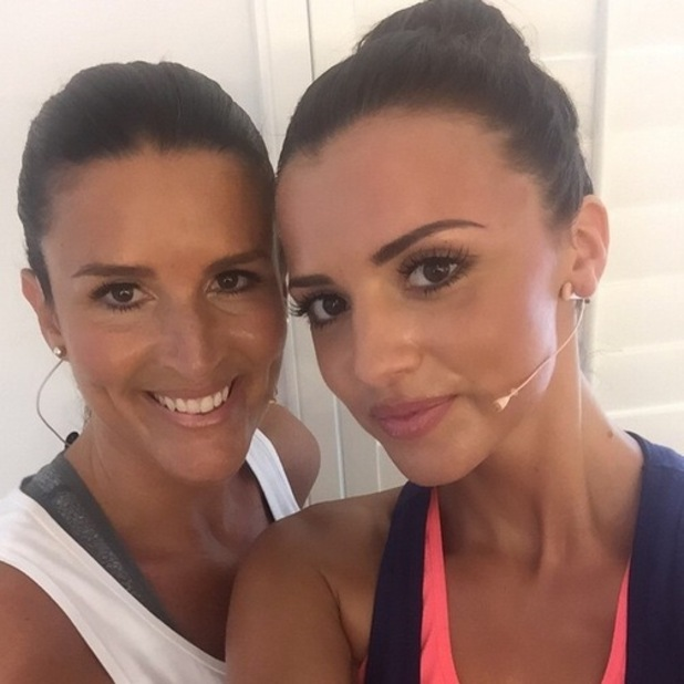 Lucy Mecklenburgh and personal trainer, Instagram 22 April