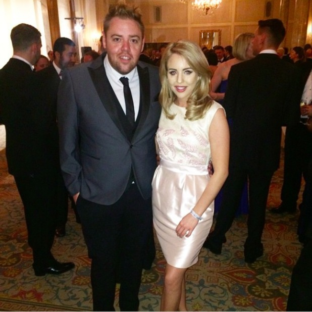 Lydia Bright attends LGBT Awards at The Landmark Hotel with Mike Spencer, 24 April 2015