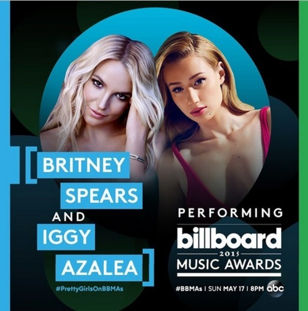 Britney Spears announces BBMA's performance on Instagram 22nd April 2015