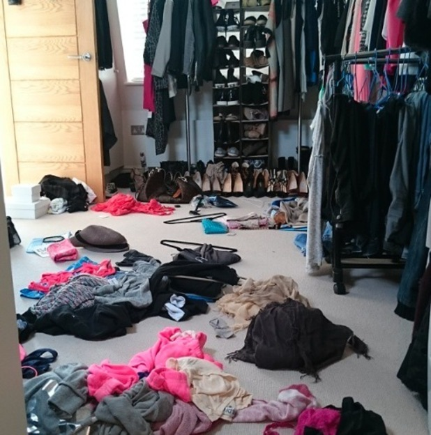 Stephanie Pratt posts over flowing wardrobe picture to Instagram 24 april