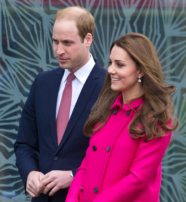 Catherine, Duchess of Cambridge shows off her baby bump on a visit to South London - 27 March 2015.