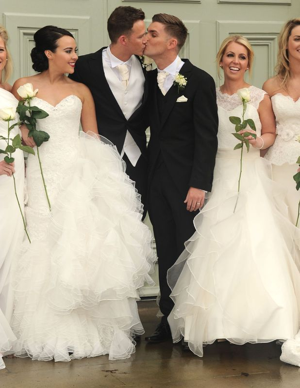 The wedding of Kieron Richardson and Carl Hyland at The Devonshire Dome, Buxton, Britain - 25 Apr 2015