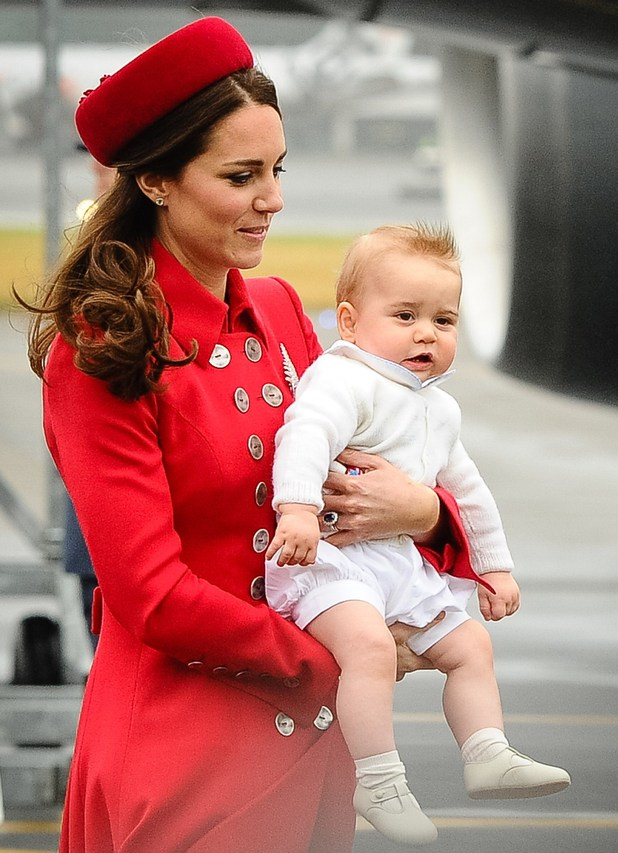 Prince George arriving in Wellington, Australia and New Zealand tour April 2014