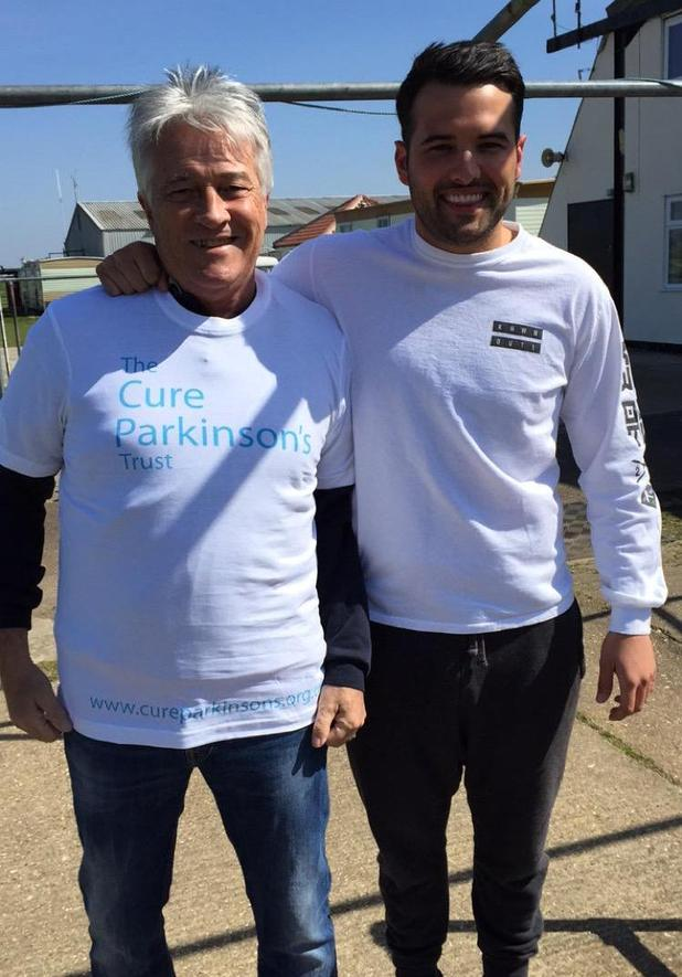 TOWIE's Ricky Rayment and his father Richard complete charity skydive for the Cure Parkinson's Trust - 21 April 2015.