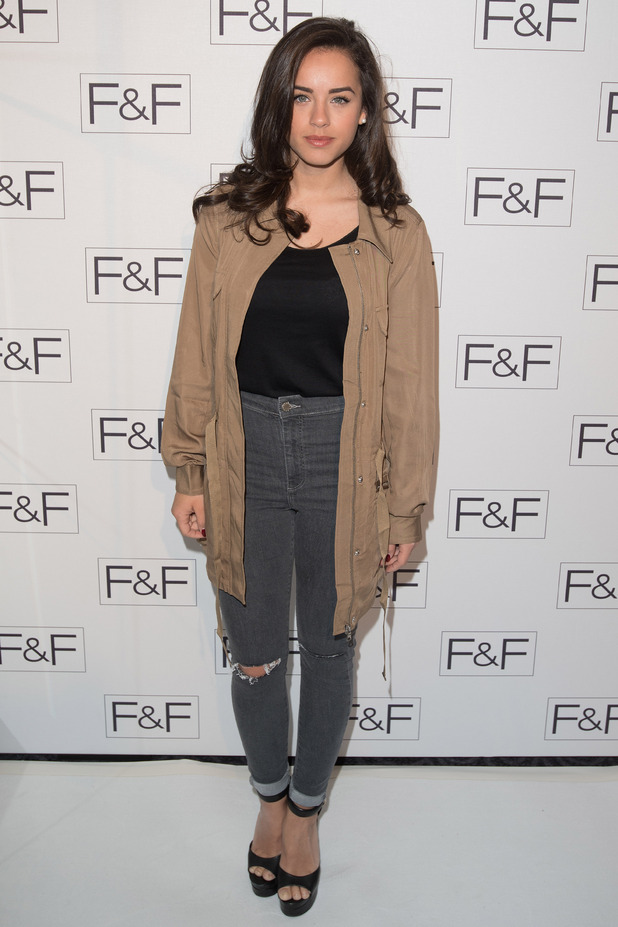 Georgia May Foote at the F&F salon show held at the Savoy - Arrivals - 04/21/2015 London, United Kingdom