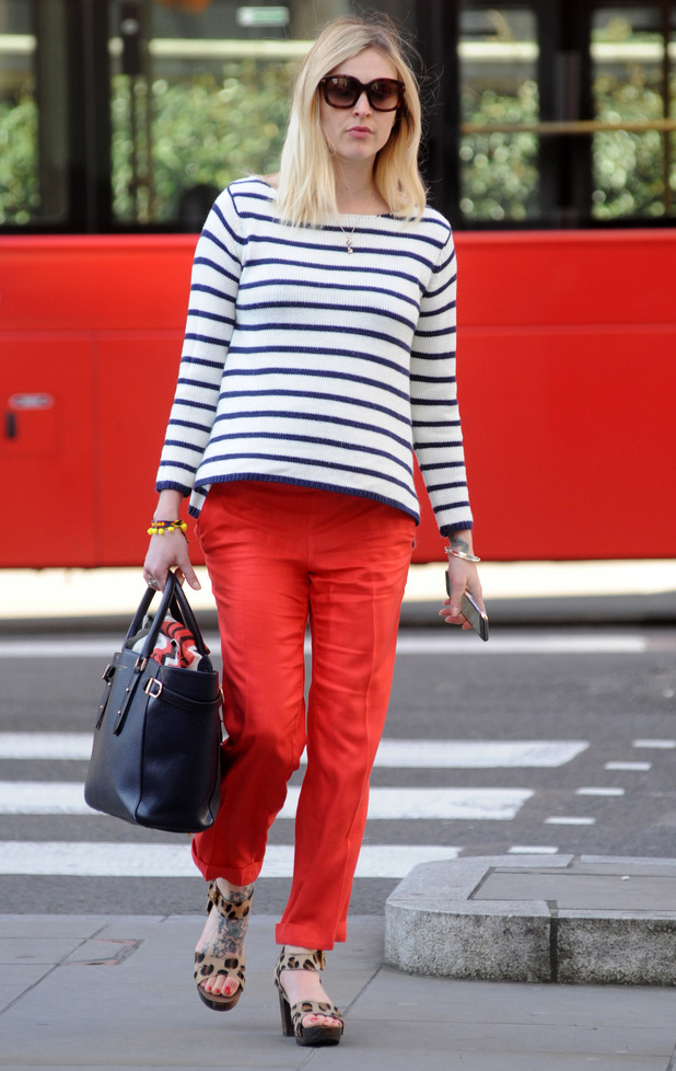 Fearne Cotton outside Radio 1, London 22 April