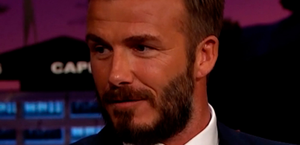 David Beckham appears on 'The Late Late Show with James Corden'