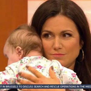 Charlotte Hawkins introduces daughter Ella Rose to Good Morning Britain viewers.