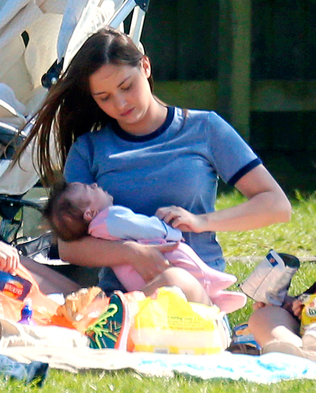 Jacqueline Jossa and daughter Ella 14 Apr 2015