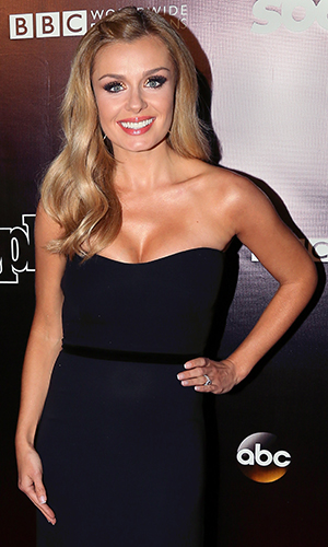 Katherine Jenkins attends the 10th anniversary of ABC's 'Dancing with the Stars' at Greystone Manor on April 21, 2015 in West Hollywood, California. (