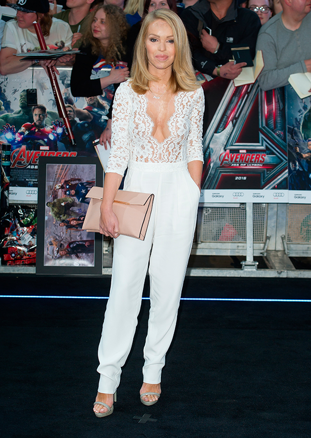 Katie Piper at UK premiere of 'The Avengers: Age of Ultron', 21 April 2015