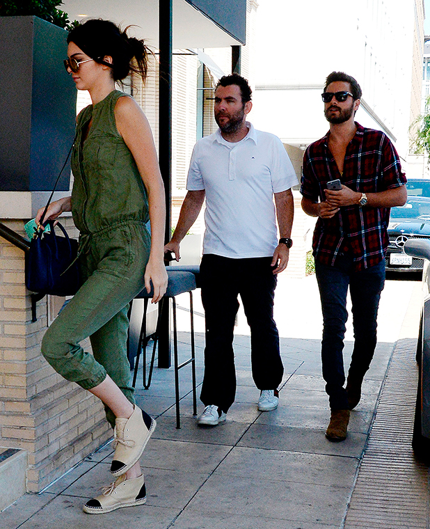 Kendall Jenner and Scott Disick out and about, Los Angeles, America - 20 Apr 2015