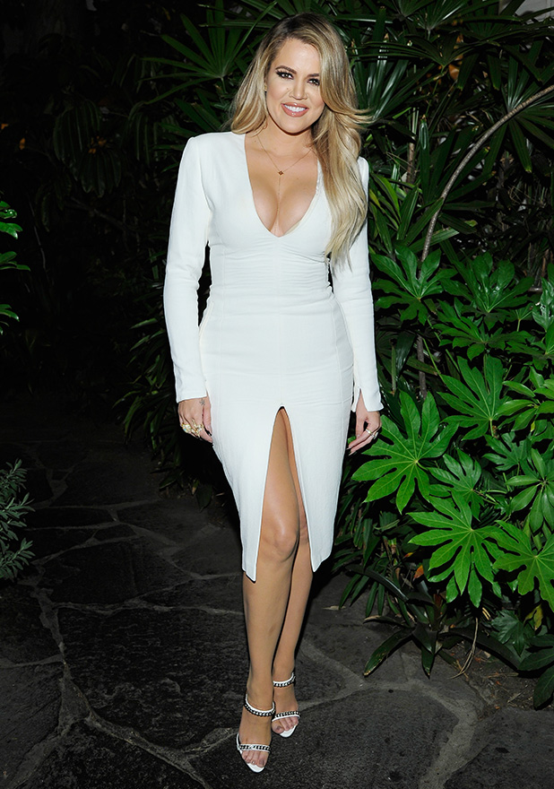 Khloe Kardashian attend Opening Ceremony and Calvin Klein Jeans' celebration launch of the #mycalvins Denim Series with special guest Kendall Jenner at Chateau Marmont on April 23, 2015 in Los Angeles, California.