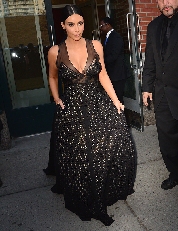 Kim Kardashan is seen in Soho 15 on April 21, 2015 in New York City.