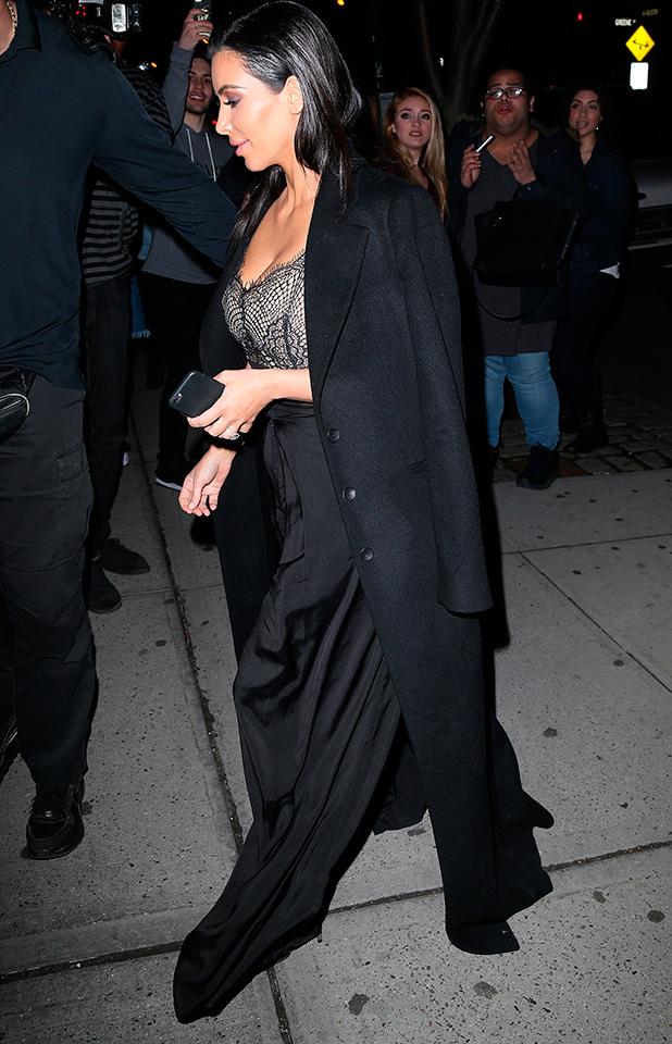 Kim Kardashian out and about, New York, America - 22 Apr 2015