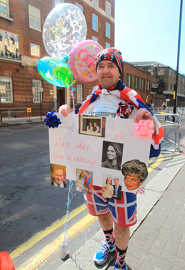The Lindo Wing of St Mary's Hospital Preparations as the wait continues for the Duchess of Cambridge to arrive to give birth to her second child.