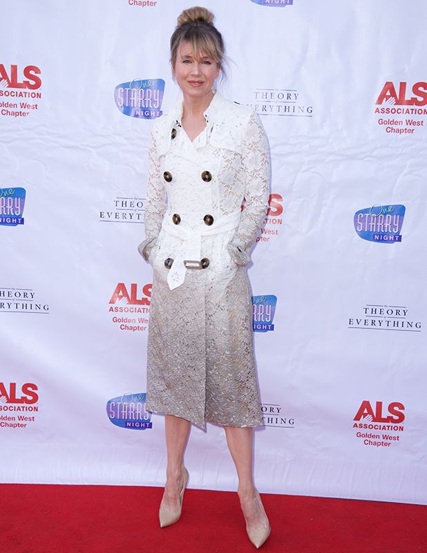 Renee Zellweger attends 'One Starry Night..From Broadway To Hollywood' In Support Of The Golden West Chapter of The ALS Association at Pasadena Playhouse on April 20, 2015 in Pasadena, California.